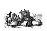 Negro Labour Loading Sacks of Cotton on Cart, Southern States of Usa Giclee Print
