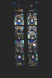 Star of David in Stained Glass Church Window, Barcelona, Spain Photographic Print
