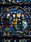 Centre of the Thabor, Stained Glass, Chartres Cathedral, France, 1194-1260 Photographic Print