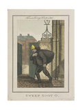 Sweep Soot O, Cries of London, 1804 Giclee Print by William Marshall Craig