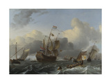 Flagship Eendracht and a Fleet of Dutch Men-Of-War, C. 1670 Giclee Print by Ludolf Bakhuizen