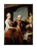 Emperor Joseph II with Grand Duke Pietro Leopoldo of Tuscany, 1769 Giclee Print by Pompeo Girolamo Batoni
