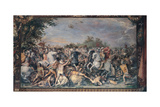 Battle Against the Inhabitants of Veii and Fidenae, 1598-1599 Giclee Print by Giuseppe Cesari