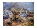Attack of Polish Uhlans on Bolsheviks Near Sloutsk 1919, 1920 Giclee Print by Leonard Winterowski