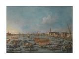 The Bucintoro Festival of Venice, Mid of the 18th C Giclee Print by Francesco Guardi