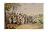 Russian Peasant Girls with Festival Dress, 1845 Giclee Print by Karl Ivanovich Kolmann
