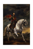 Equestrian Portrait of the Emperor Charles V, C. 1620 Giclee Print by Anthonis van Dyck
