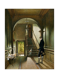The Staircase of the London Residence of the Painter, 1828 Giclee Print by Pieter Christoffel Wonder