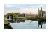 King's College, King's College Chapel and Clare College, Cambridge, Early 20th Century Giclee Print