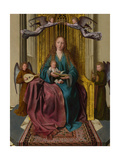 The Virgin and Child Enthroned, with Four Angels, C. 1495 Giclee Print by Quentin Massys