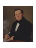 Portrait of the Author Mikhail Zagoskin (1789-185) Giclee Print by Vasili Andreyevich Tropinin
