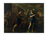 Tobias Meets the Archangel Raphael, C. 1640 Giclee Print by Andrea Vaccaro