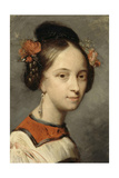 Portrait of the Ballerina Marie Taglioni Giclee Print by Ary Scheffer