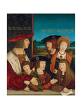 Portrait of Emperor Maximilian I with His Family, 1516-1520 Giclee Print by Bernhard Strigel