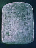 Votive Stele Dedicated by His Brother to a Man from Ermant, Near Thebes, Ancient Egypt Photographic Print
