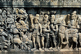 Relief Showing Scene from a Sutra, Barabudur, Java, C750-850 Photographic Print