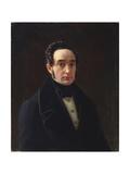 Portrait of Vladimir Ivanovich Panayev (1792-185) Giclee Print by Alexei Vasilyevich Tyranov