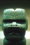 Olmec Carved Jade Head, Pre-Columbian, Central America, 1150-800 Bc Photographic Print