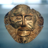 Funerary Mask of Agamemnon, Legendary King of Mycenae, C1600-C1500 BC Photographic Print