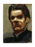 Portrait of the Author Maxim Gorky (1868-193), 1906 Giclee Print by Akseli Gallen-Kallela