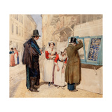 A Bridegroom Choosing a Ring for His Fiancee, 1838 Giclee Print by Alexander Andreyevich Ivanov