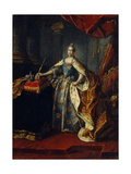 Portrait of Empress Catherine II (1729-179), 1762 Giclee Print by Alexei Petrovich Antropov