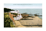 Jacob's Ladder, as Seen from Cliff Walks, Sidmouth, Devon, Early 20th Century Giclée-tryk
