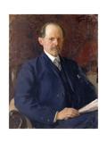 Portrait of Sergey Ivanovich Senkov, 1908 Giclee Print by Ivan Semyonovich Kulikov