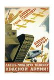 Tanks, Airplanes! Engines! Power to the Red Army! Giclee Print by Pyotr Dmitryevitsch Pokarzhevski
