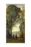 Reminiscence of the Beach of Naples, 1871-1872 Giclee Print by Jean-Baptiste Camille Corot