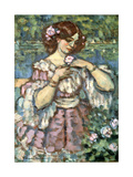Girl with a Rose, 1901 Giclee Print by Charles Guerin
