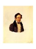 Portrait of Decembrist Vasily Ivashev (1797-184), 1834 Giclee Print by Nikolai Alexandrovich Bestuzhev