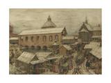 Old Moscow, Okhotny Ryad (Hunting Ro), 1900s-1910s Giclee Print by Appolinari Mikhaylovich Vasnetsov