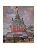 Red Tower in the Trinity Lavra of St. Sergius, 1912 Giclee Print by Boris Michaylovich Kustodiev