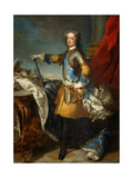 Portrait of the King Louis XV (1710-177), Ca 1723-1724 Giclée-Druck von Jean Baptiste Van Loo