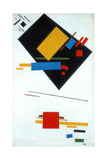 Suprematist Painting (Black Trapezoid and Red Squar), 1915 Giclee Print by Kasimir Severinovich Malevich