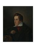 Portrait of the Poet Heinrich Heine (1797-185), 1831 Giclee Print by Moritz Daniel Oppenheim