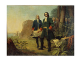 Peter the Great, the Founding of Saint Petersburg, 1838 Giclee Print by Alexei Gavrilovich Venetsianov