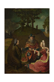 Lot's Daughters Make their Father Drink Wine, 1508-1512 Giclee Print by Lucas van Leyden