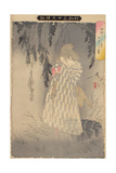 The Ghost of Okiku at Sarayashiki, 1890 Giclee Print by Tsukioka Yoshitoshi
