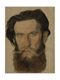 Portrait of Otto Y. Schmidt (1891-195), 1921-1922 Giclee Print by Nikolai Andreevich Andreev