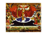 The Coronation of the Virgin, 1454 Giclee Print by Enguerrand Quarton