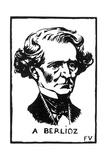 Hector Berlioz (1803-186), 1891 Giclee Print by Felix Edouard Vallotton