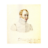 Portrait of Decembrist Baron Andrei Von Rosen (1799-188), 1832 Giclee Print by Nikolai Alexandrovich Bestuzhev