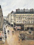 Rue Saint-Honoré in the Afternoon, Effect of Rain, 1897 ジクレープリント : カミーユ・ピサロ
