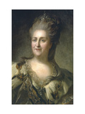 Portrait of Empress Catherine II (1729-179), 1779 Giclee Print by Fyodor Stepanovich Rokotov