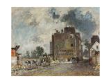 Demolition Work in Rue Des Francs-Bourgeois-Saint-Marcel, 1868 Giclee Print by Johan Barthold Jongkind