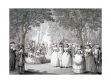 The Garden of Carlton House, London, 1784 Giclee Print by Henry William Bunbury