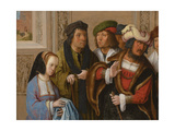 Potiphar's Wife Displays Joseph's Garment, C. 1512 Giclee Print by Lucas van Leyden