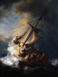 Christ in the Storm on the Lake of Galilee, 1633 Impressão giclée por  Rembrandt van Rijn